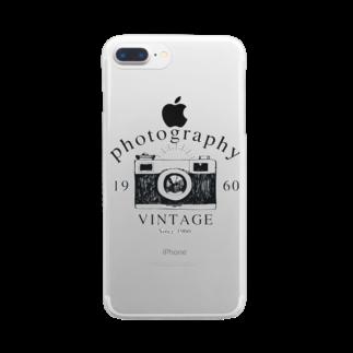 IZANAGIのレトロなカメラあ Clear smartphone cases
