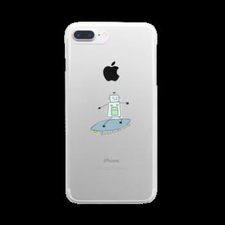 mashibuchiのろぼさーふ Clear smartphone cases