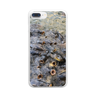 NYANGOROのパクパクコイ鯉 Clear smartphone cases