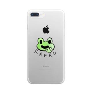 ほがらかカエル Clear smartphone cases