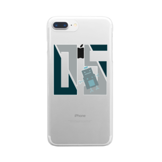 mashibuchiのロボット数字05 Clear smartphone cases