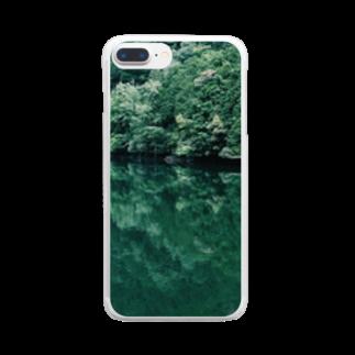 maki_fujiyamaのgreen Clear smartphone cases