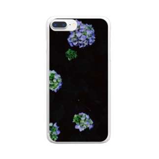 maki_fujiyamaのdot universe Clear smartphone cases