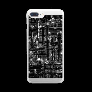 ζWalkerの工場夜景 Clear smartphone cases