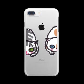 マイマイタケのずずずいっ Clear smartphone cases