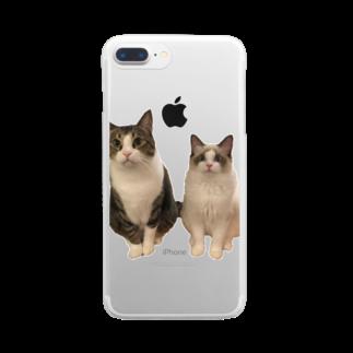しゃぶしゃぶとぽん酢ฅのしゃぶちとぽん酢ฅ Clear smartphone cases