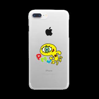 邂【サイマラショップ】逅 SUZURI店のサイマラ サクリファイスくんグッズ PML Clear smartphone cases