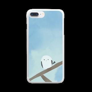 かな工房のシマエナガさん Clear smartphone cases