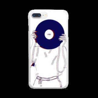 art_posca_drawingのレコード好きなあの子 Clear smartphone cases