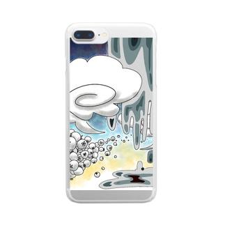夏のどろどろ Clear smartphone cases