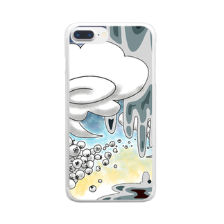 アルカリイオン水の夏のどろどろ Clear smartphone cases