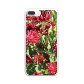YuzunoHEYAのあかいおはな Clear smartphone cases