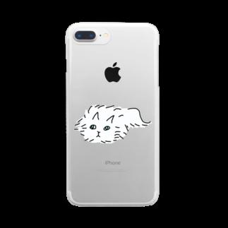 kojiのふわふわのネコ Clear smartphone cases