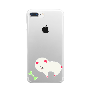 soar-i7のいいぬ1 Clear smartphone cases