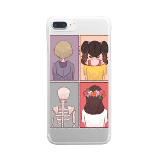 Cocohashop*の背中 Clear smartphone cases
