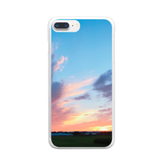 あんこの夏の夕焼けフォトグラフ Clear smartphone cases