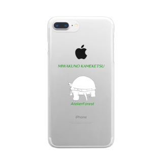 AtelierForest の魅惑の亀けつ Clear smartphone cases
