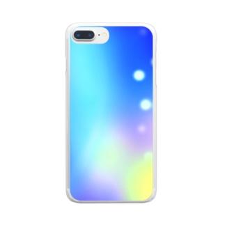 幻想的な空 Clear smartphone cases