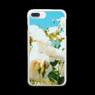 maki_fujiyamaの白という名前 Clear smartphone cases