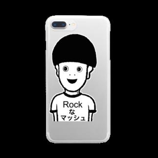 ツンデレボーイズのRockなマッシュ Clear smartphone cases