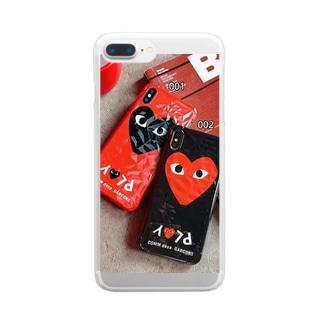 コムデギャルソン アイフォンXR XSMax ケース 黒と赤 オシャレ Comme des Garcons iPhoneXS/X スマホカバー かわいい 可愛い iphone7 8Plus ペア ケース ジャケット 男女兼用 Clear smartphone cases