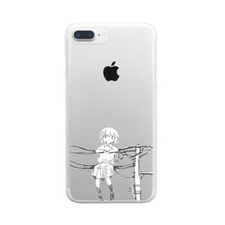 電線のあのこ Clear smartphone cases