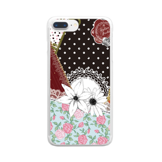 Atelier Pechi / アトリエ・ペチのScarf Pattern Clear smartphone cases