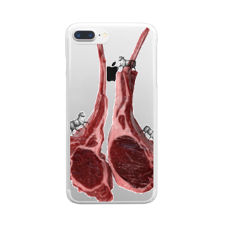 tottoの肉食/ラム×羊さん Clear smartphone cases