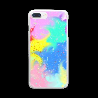 まめ@ゆるふわおもろ発見隊のしぶきっき Clear smartphone cases