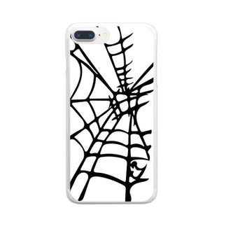 Setsuのスパイダーな切り絵 Clear smartphone cases