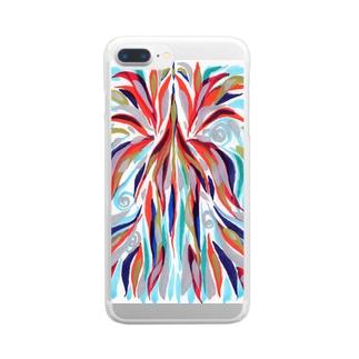 瀬織津姫.昇り Clear smartphone cases