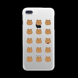 ライのくまちゃんがたくさん Clear smartphone cases