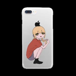 巴の三つ編みちゃん Clear smartphone cases