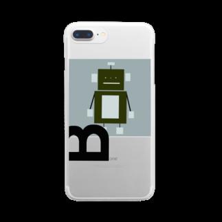 mashibuchiのロボットのB Clear smartphone cases