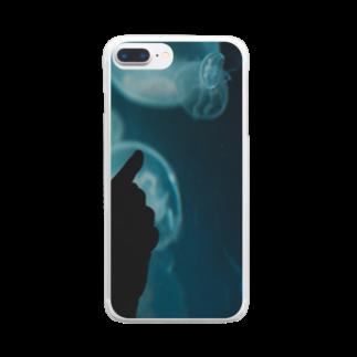 アリムラ アメ@アリネコのarineko_color クラゲ×人 Clear smartphone cases