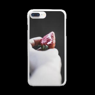 アリムラ アメ@アリネコのarineko_color 苺 Clear smartphone cases