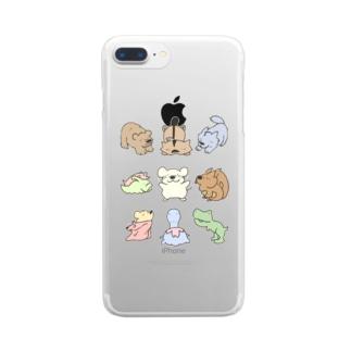 どうぶつたち第一弾 Clear smartphone cases
