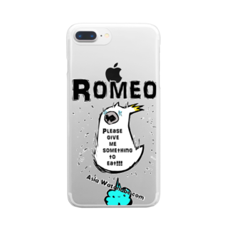 SHOP ROMEO のHungry tai Clear smartphone cases
