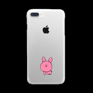 ライのうさきち(クレヨン) Clear smartphone cases