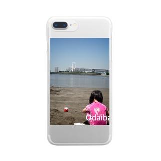 子供の写真とニックネーム入り! Clear smartphone cases