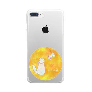 猫さんと金魚さんが夢境の中で出逢う🌸 Clear smartphone cases