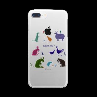 nachau7の動物たちからのメッセージ Clear smartphone cases
