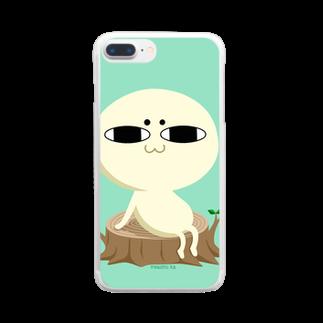 マコトさんちのまろきのこさん Clear smartphone cases