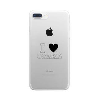 おおさか愛 Clear smartphone cases