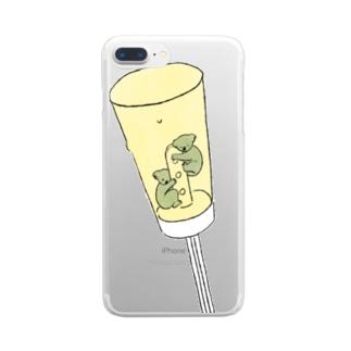 ひえひえのコアラ A Clear smartphone cases