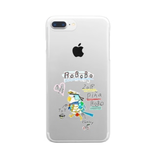 ROBOBO「ぴにゃロボ」 Clear smartphone cases