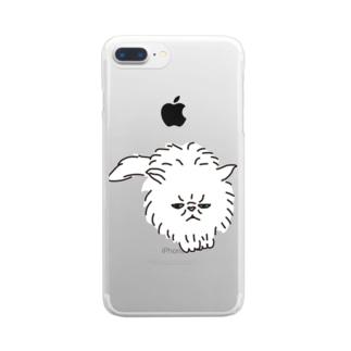 スコティッシュフォールド猫 Clear smartphone cases