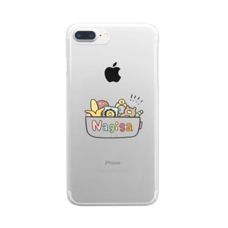 ゆゆ丸のなぎさ◎ Clear smartphone cases