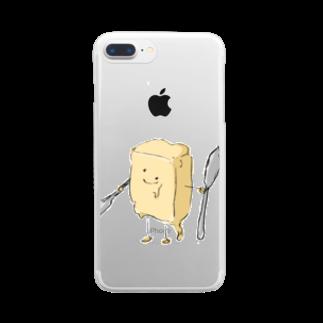 スペースさねぴのバターファイター Clear smartphone cases