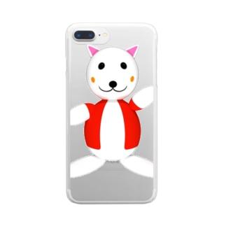 まめにゃんちゅ Clear smartphone cases